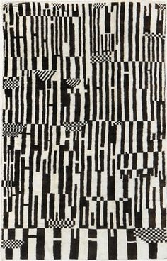 Vintage Moroccan Rug #black and white #pattern