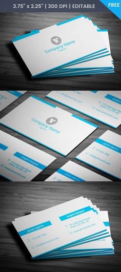 Free Minimal Entrepreneur Business Card Template