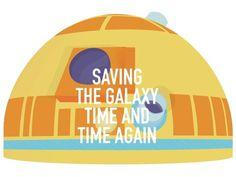 ANONYMOUS MAG #saviour #robot #galaxy #wars #illustration #star #time #r2d2