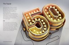 Typography 11. by Peter Tarka, via Behance #light #neon