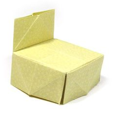 How to make a traditional origami chair (http://www.origami-make.org/howto-origami-chair.php)
