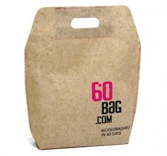 Área Visual: 60 Bag´s: Packaging sostenible biodegradable #packaging #design #package