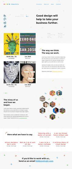 Shapes – One Page Creative Portfolio