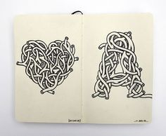 75 Exceptional Moleskine Notebook Artworks | Webdesigner Depot #type #illustration #illustrated