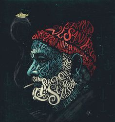 The Life Aquatic with Steve Zissou – Peter Strain Illustration #inspiration #illustration #portrait #typography