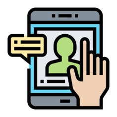 See more icon inspiration related to usability, ui, hands and gestures, checking, electronics, mobile phone, communications, hands, speech bubble, smartphone, message, hand, interface, screen, check, cellphone and profile on Flaticon.