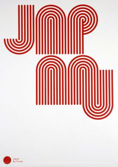 Japan Poster by Studio Family #family #red #lines #print #minimal #poster #type