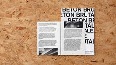 Brutalist Publication - Celebrating Peter and Alison Smithsons 'Robin Hood Gardens' #Brutalist #Brutalism #publication #book #thesmithsons
