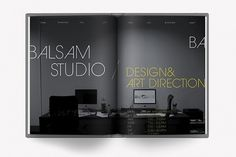 brulionNo.1 - balsamstudio sketchbook may'09 on the Behance Network #white #title #article #black #spread #and #magazine