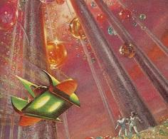 "slumberellaa: ""John Baxter, The Off Worlders. Cover Art by Frank Kelly Freas. """