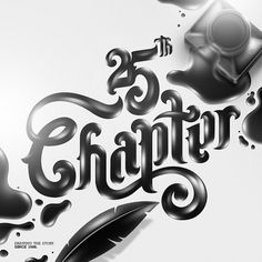 All sizes | 25th Chapter | Flickr - Photo Sharing! #illustration #blackwhite #typography