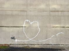 Banksy, Biplane Loveheart, Liverpool - unurth | street art #liverpool #banksy