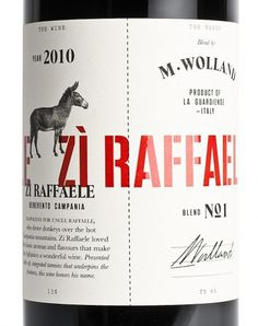 M. Wolland Zi Raffaele #packaging #heydays #wine #mwolland