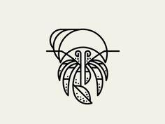 Hermit #illustration #minimal #simple #animal #line #mark