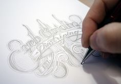 Hand drawn typography by Seb Gaidin