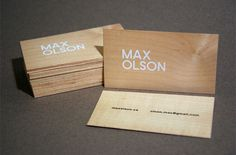 business cards! #silkscreen #business #card #wood #veneer #cards #typography