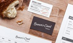 Brown's Court Bakery Business Cards | Nudge #design #graphic #branding