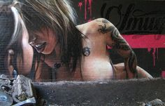 Erotic art in graffiti #graffiti #realism #street #art #realistic