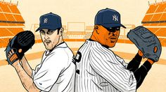 Illustration of Justin Verlander and CC Sabathia for Grantland.com #baseball