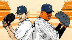 Illustration of Justin Verlander and CC Sabathia for Grantland.com #baseball