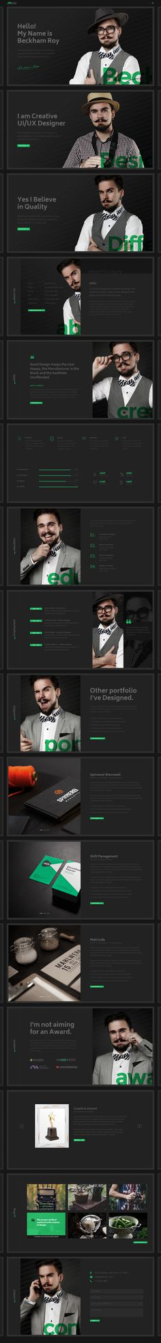 MUU - A creative, unique and interactive personal #resume and #portfolio #HTML5 and #Bootstrap Template - Black skin. - https://goo.gl/wNT8u
