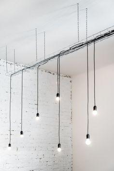Strict Elegance by batlab architects. #batlabarchitects #details #lighting #pendantlamp #minimalism