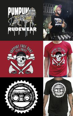 Pumpum Rudewear #clothing #illustrator #graphic #illustration #t-shirt #wear #hip-hop #street #music