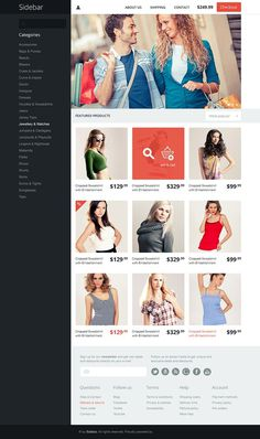 Side Bar Layout #sidebar #nice #ecommerce #looking #theme