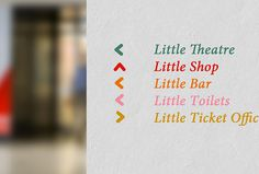Wigan Little Theatre by Alphabet #print #graphic design #sign typography