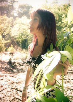 All sizes | Emillie Dias of November Rush | Flickr - Photo Sharing! #sun #girl #nature #photography #green