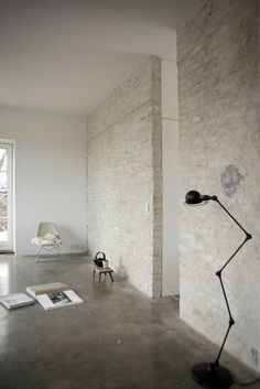 House and art studio interior #interior #house #modern #architecture #studio #art #paintings #artist