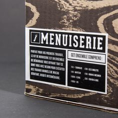 Le KIT #branding #packaging #box #wood #tool #menuiserie #carpentry #kit #le #carpenter