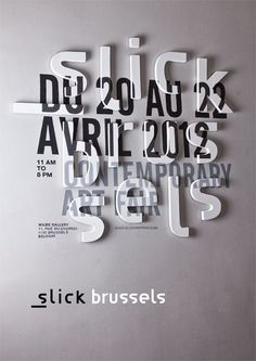 Slick Brussels by Yamoy #poster #typography