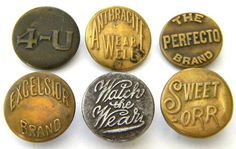 Mr Cup Found items #buttons #type #vintage #typography