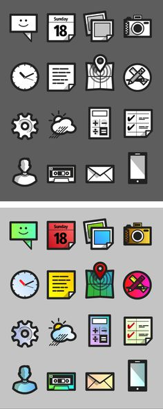 Specialmagazin #vector #camera #calendar #icons #map #iphone #app #clock