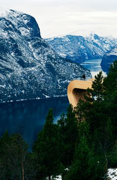 CJWHO ™ (Aurland Lookout, Norway by Todd Saunders & Tommie...) #norway #lookout #design #landscape #wood #architecture #view