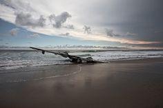 dietmar eckell 'restwert' #wreck #crash #wing #sea #photography #plane #reflection #beach