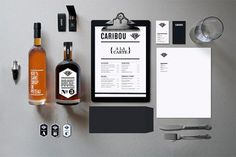 caribou - Maxime Brunelle | Graphic Designer #branding #packaging #restaurant #bar #stationery #type #caribou #typography