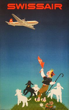 http://www.vintagepostersnyc.com/cgi local/db_images/posters/uploads/6158 image.jpg?22 #poster #airplane #swiss air #travel #aeroplane