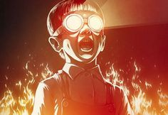 Looks like good Illustrations by Lukas Brezak #glasses #boy #light #fire