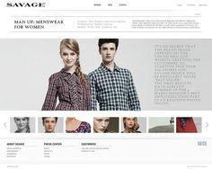 Savage on Web Design Served #webesign #white #clean
