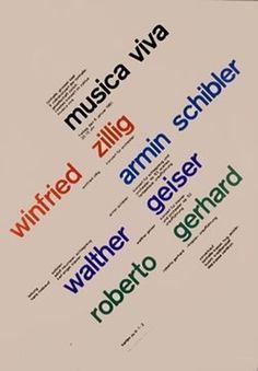 Musica Viva - January 6, 1961 by Muller-Brockmann, Josef | Vintage Posters at International Poster Gallery