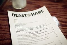 26/365 beast and the hare | Flickr - Photo Sharing! #print #design #graphic #menu #photography