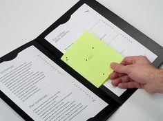 Blanc #menu #restaurant #layout #editorial #neon
