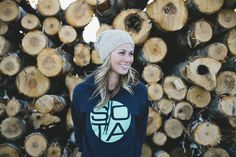 Another awesome shot from the Northland. Logs for a backdrop?, why not! sotaclothing.com #model #clothing #women #sota #photography #portrait