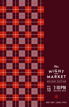 NightMarket_December #market #event #astrology #design #publicity #night #kentucky #christmas #holiday #poster #moon