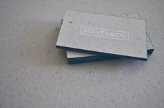 Steves&Co. Business Cards #malta #silkscreen #white #business #stevesandco #blue #recycled #cards