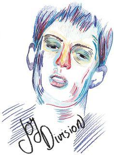 studiopatten.com #illustration #patten #joy division #ian curtis