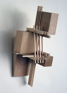 "Wood Sculpture That Hangs on the Wall: Construction 18 (""Musician"") #model"