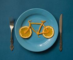 All sizes | Orange bike | Flickr - Photo Sharing! #bicycle #food